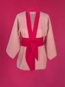 Kimono lniane Isumi old pink - Kikimono - shopkikimono.com