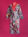 Kikimono - Tama czerwone - kimono bawełniane długie